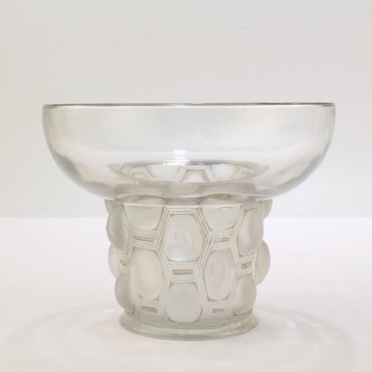 Signed Rene Lalique Art Deco Period Beautreillis Art Glass Vase For Sale 3
