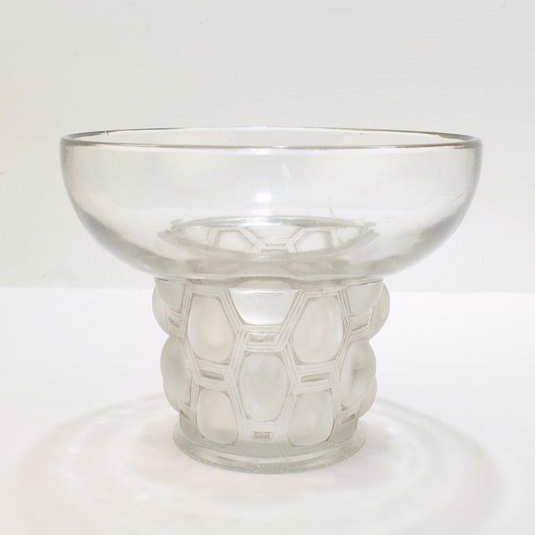 Signed Rene Lalique Art Deco Period Beautreillis Art Glass Vase For Sale 4