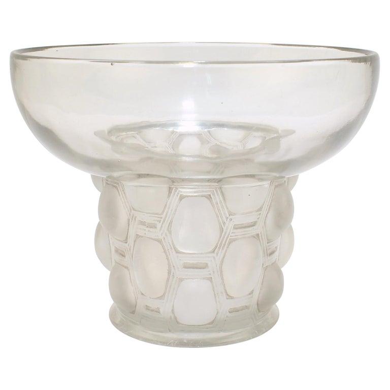 Signed Rene Lalique Art Deco Period Beautreillis Art Glass Vase For Sale