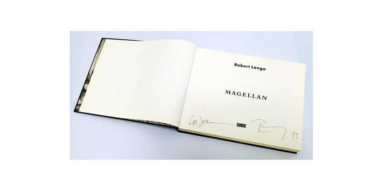 Hand Signed Robert Longo 'Magellan' 
