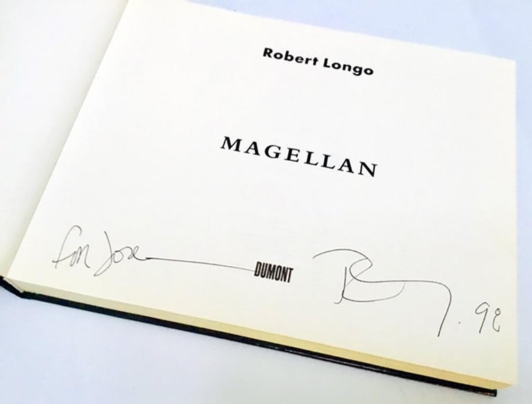 Signed Robert Longo Magellan book  In Good Condition For Sale In New York, NY