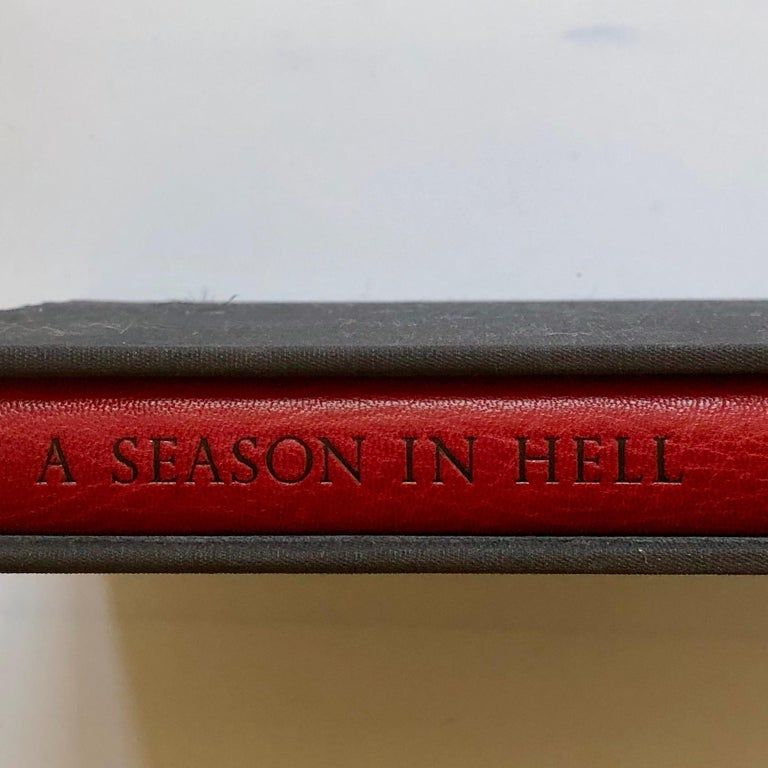 Signed Robert Mapplethorpe a Season in Hell by Arthur Rimbaud First Edition 1986 In Excellent Condition For Sale In London, GB