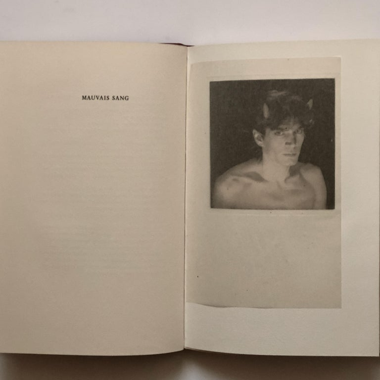 Paper Signed Robert Mapplethorpe a Season in Hell by Arthur Rimbaud First Edition 1986 For Sale