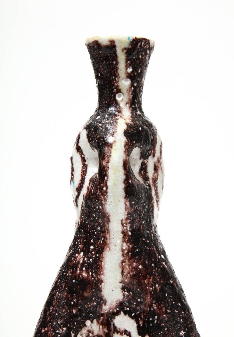 Glazed Signed Salvatore Procida Ceramic Vase, Italy, circa 1950 For Sale
