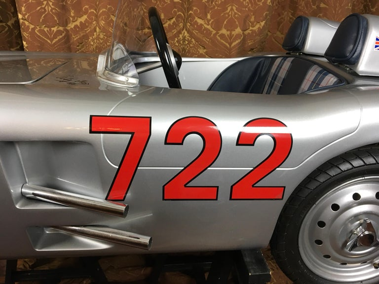 British 1/2 Scale Mercedes-Benz 300 SLR 722 Junior Car, Signed by Sir Sterling Moss  For Sale