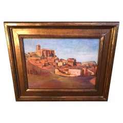 Signed Southwestern Painting of a Village