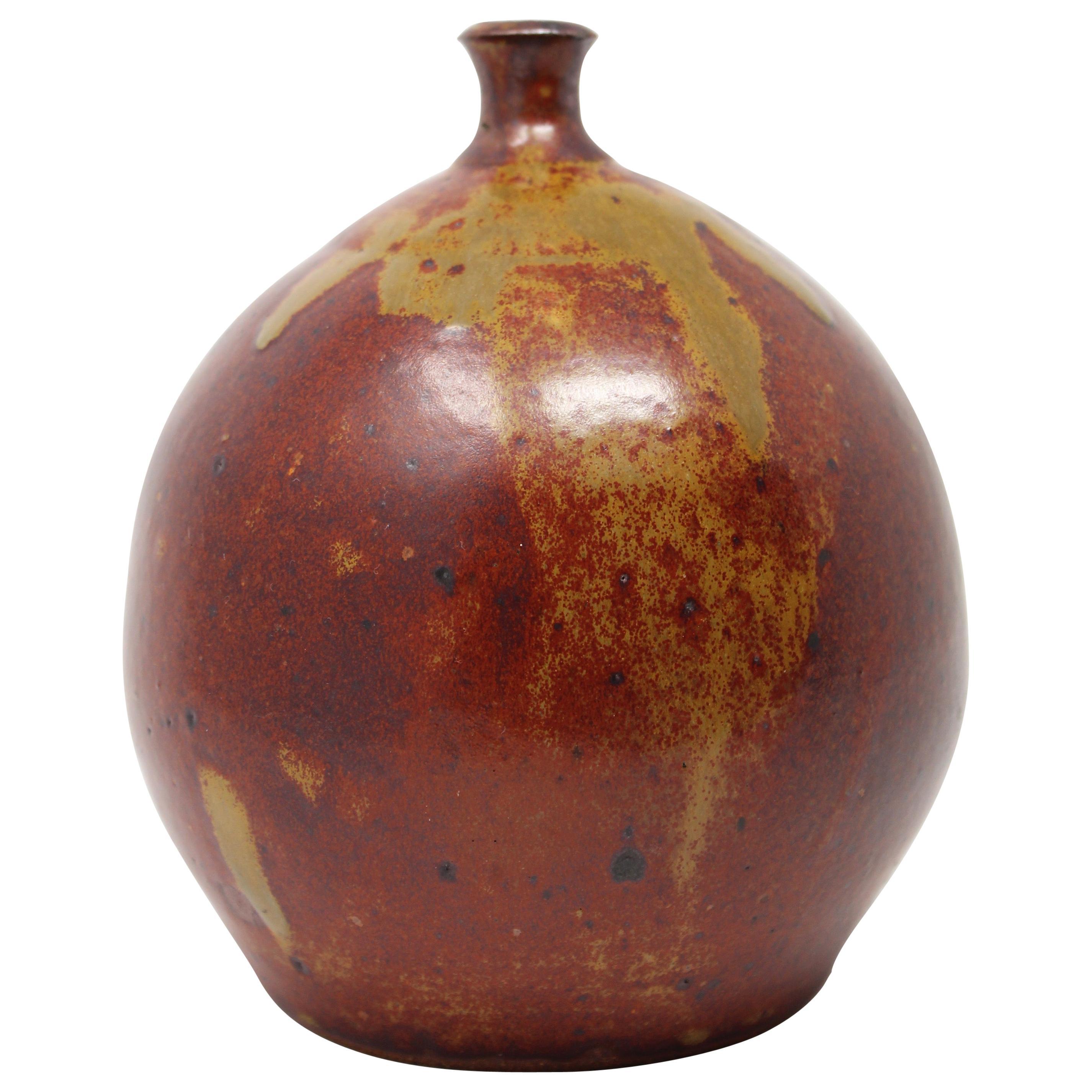 Handmade studio pottery VINTAGE weed vase