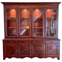 Signed Theodore Alexander Castle Bromwich Two Piece China Cabinet Breakfront