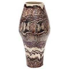 Signed Umberto Zannoni Ceramic Vase, Italy, circa 1950