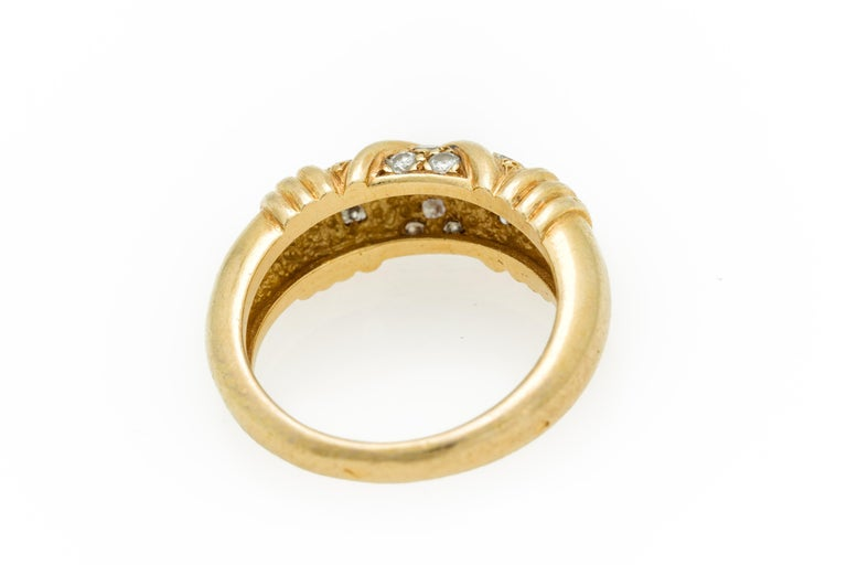 Signed Van Cleef & Arpels Diamond Band Ring in 18 Karat Yellow Gold For Sale 5