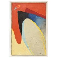 Signed Vintage Philip Perkins Cubist Painting