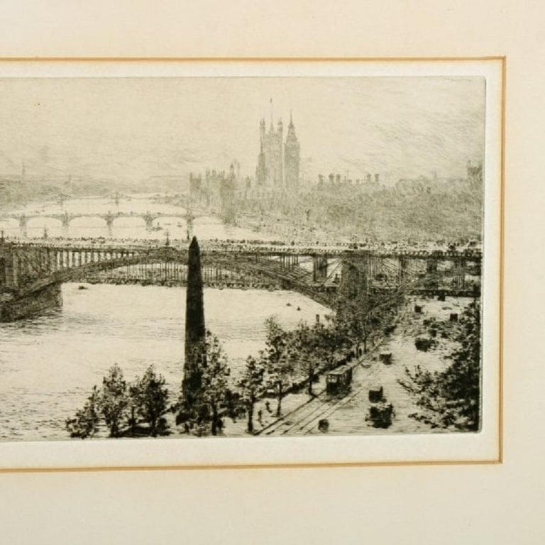 European Signed W L Wyllie Etching, 20th Century For Sale
