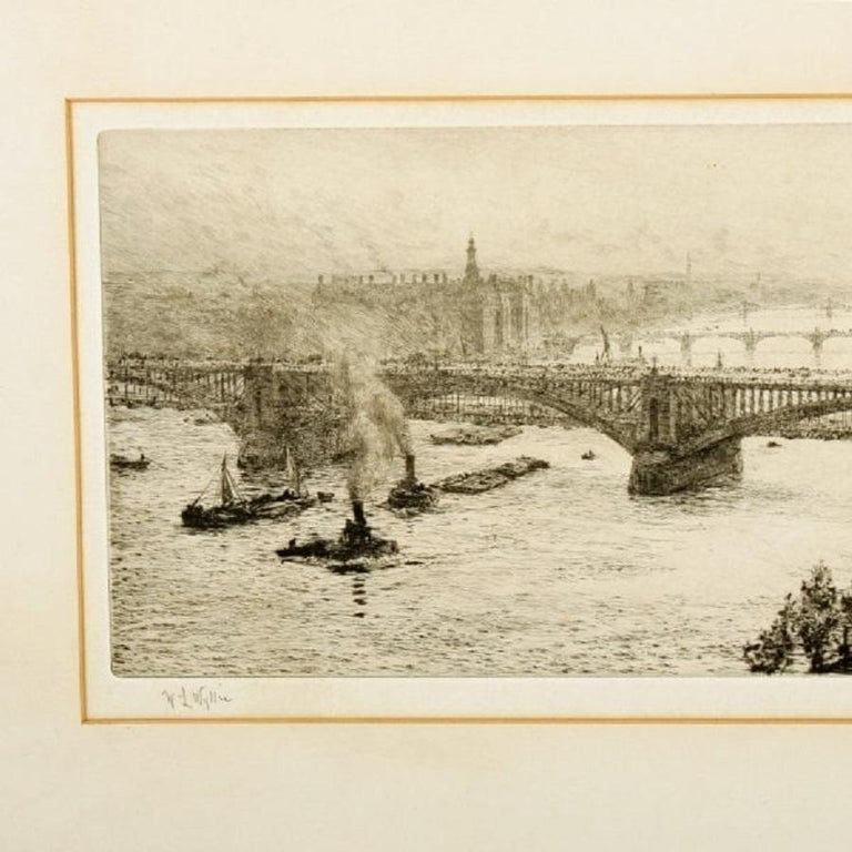 Signed W L Wyllie Etching, 20th Century In Good Condition For Sale In London, GB