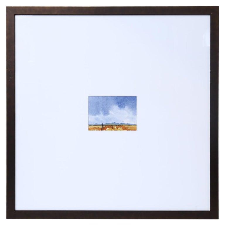 Signed Watercolor Landscape For Sale
