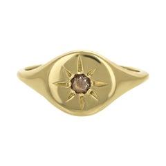 Signet Burst Ring