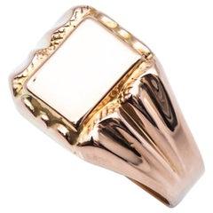 Signet Ring 1900 18 Karat Rose Gold
