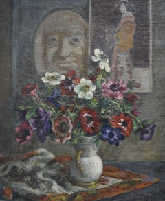 Sigurd Frederiksen (1907-1986) Still-life with anemones, oil on canvas, signed