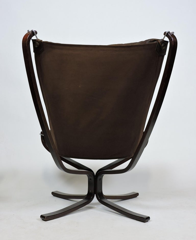 Sigurd Ressel Falcon High Back Sling Lounge Chair And