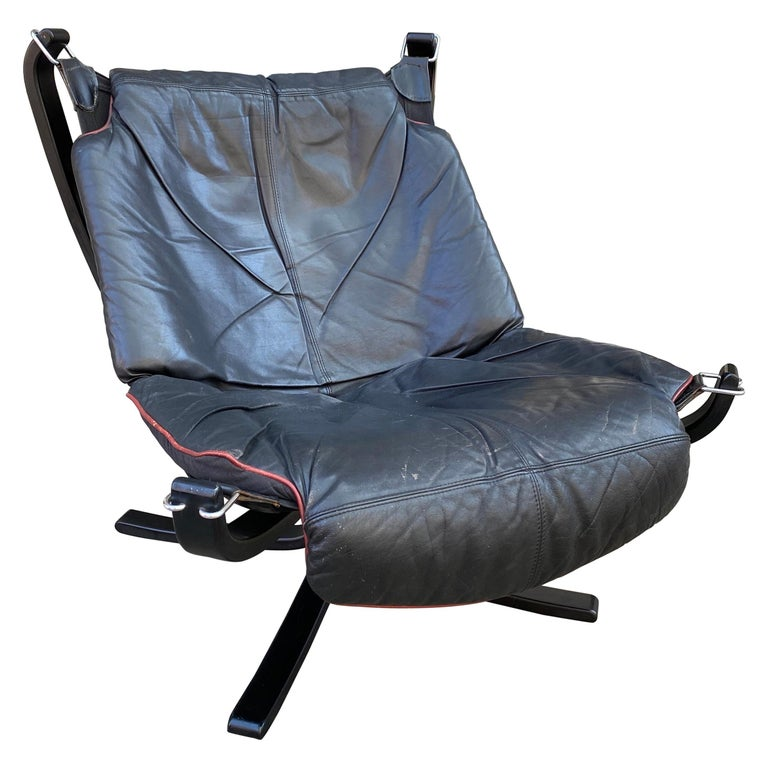 Sigurd Ressell Falcon Leather lounge Chair For Sale