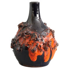 Sigurður Hákon Arnórsson Icelandic Volcanic Lava Art Pottery Vase