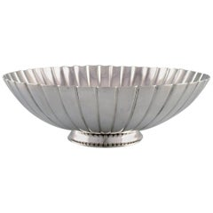 Sigvard Bernadotte for Georg Jensen, Large Strawberry Bowl in Sterling Silver