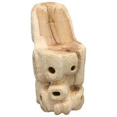 Sigve Knutson Wood Chair, Shelf Manufactured by Sigve Knutson, Oslo, 2019