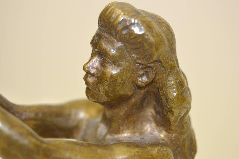 Sigyn by Nils Möllerberg Bronze figurine For Sale 4