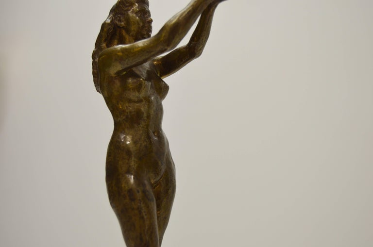 Sigyn by Nils Möllerberg Bronze figurine For Sale 7
