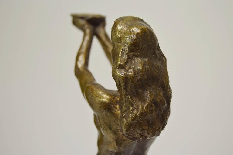 20th Century Sigyn by Nils Möllerberg Bronze figurine For Sale