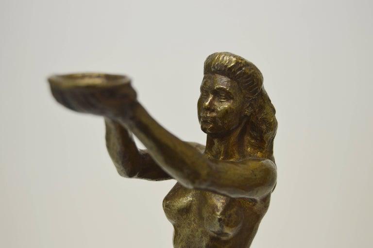 Sigyn by Nils Möllerberg Bronze figurine For Sale 1