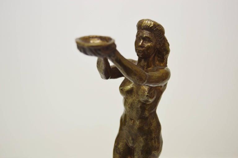 Sigyn by Nils Möllerberg Bronze figurine For Sale 2