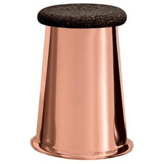 Siit Stool, Polished Copper Base and Dark Cork Seat by Discipline Lab