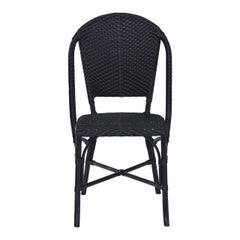 Sika Design Sofie Rattan Outdoor Bistro Side Chair in Black