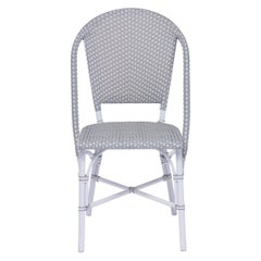Sika Design Sofie Rattan Outdoor Bistro Side Chair in Grey with White Dots