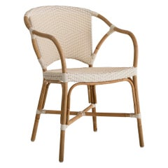 Sika Design Valerie Woven Rattan Bistro Chair in Ivory