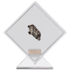 Sikhote Alin Meteorite from Siberia, Russia in a Custom Acrylic Display