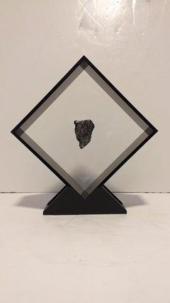 Sikhote Alin Meteorite from Siberia, Russia in a Custom Acrylic Display