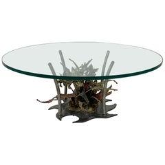 Silas Seandal Studio Brutalist Bloom Welded Bronze, Steel, & Copper Coffee Table
