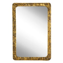 Silas Seandel Bronze Brass Mirror Rectangular Signed, USA, 1970s