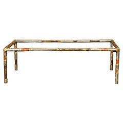 Silas Seandel Brutalist Mixed Metal Coffee Table, Signed and Dated 1976