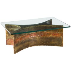 Silas Seandel Coffee Table, Copper, Bronze and Brass