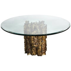 Silas Seandel Mid-Century Modern Brutalist Dining Table, Cathedral Series