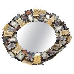 Silas Seandel Mixed Metal Jigsaw Puzzle Mirror Vintage