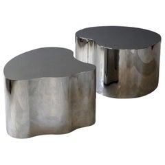 Silas Seandel, Organic Coffee Tables, Polished Steel, Studio, America, 2000s