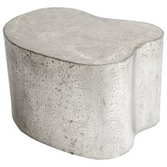 Silas Seandel Side Table, Organic Freeform, Pewter, Signed