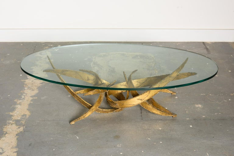American Silas Seandel Torch Cut Sculptural Brutalist Coffee Table, circa 1970 For Sale