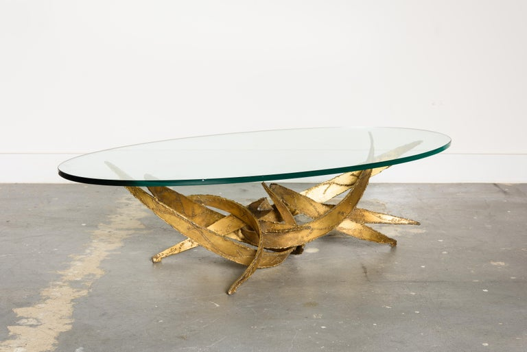 Silas Seandel Torch Cut Sculptural Brutalist Coffee Table, circa 1970 In Good Condition For Sale In Los Angeles, CA