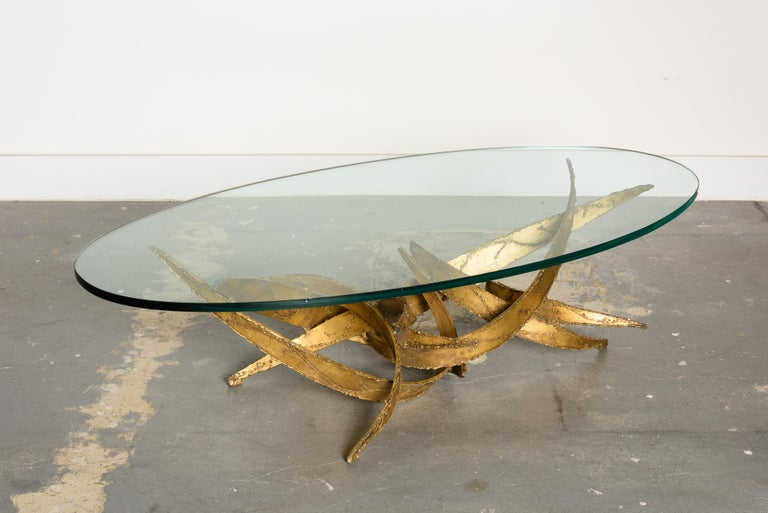 Late 20th Century Silas Seandel Torch Cut Sculptural Brutalist Coffee Table, circa 1970 For Sale