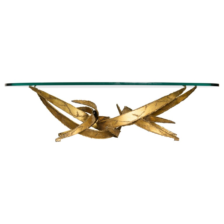 Silas Seandel Torch Cut Sculptural Brutalist Coffee Table, circa 1970 For Sale