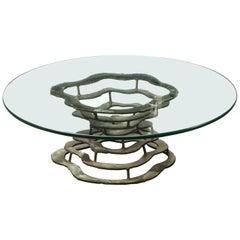 Silas Seandel Volcano Coffee Table, Signed 1972